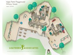 Coming Soon to Frisco - HOPE PARK, and inclusive play adventure for all children!  Artist Rendering Hope Park Frisco