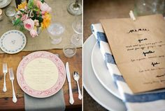 Add a little pizz-azz to your wedding tables with one of the fabulous wedding menu ideas we found from around the web. From easy DIY wedding menus to more luxe options, we aim to inspire better dressed tables...