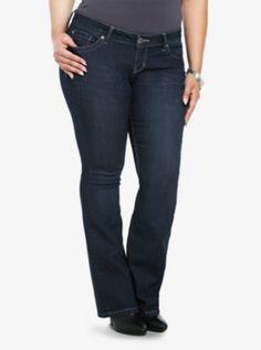 Torrid Slim Boot Jean - Dark Wash with Embellished Pockets