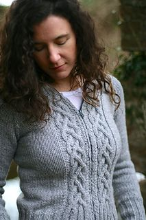 Ravelry: 'Liathe' zip-up hoodie sweater by Carol Feller. I SO badly want to make & wear this!!! The pattern is on my Christmas wishlist.