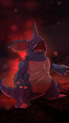 Nidoking (Shiny) by AutobotTesla on DeviantArt