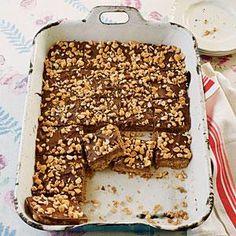 Peanut Butter-Chocolate-Oatmeal Cereal Bars Recipe   MyRecipes.com