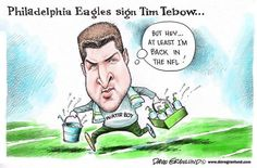 Granlund cartoon: Tebow joins the Eagles: http://www.uticaod.com/article/20150423/NEWS/150429648/2011/OPINION