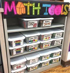 Shiplap labels for Math! Label all the things and get organized! - Shiplap labels for Math! Label all the things and get organized! First Grade Classroom, New Classroom, Classroom Setup, Preschool Classroom Layout, Elementary Classroom Themes, Classroom Arrangement, Classroom Labels, Classroom Design, Kindergarten Math
