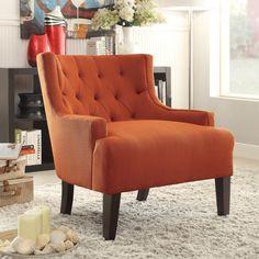 Charmant Vintage Style Accent Chair Arm Less Burnt Orange 70u0027s Style Uphostered  Studio | Home Ideas | Pinterest