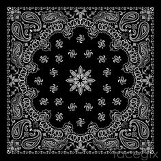 Beautiful Black And White Patterned Background Vector