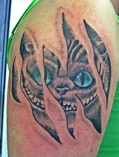 Cheshire Cat :) by Chris Gallegos at Ink Sanity Custom Tattoo, Colorado Springs, CO