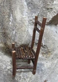 Une chaise pour mini bonshommes