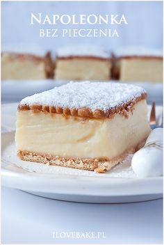 Napoleonka bez pieczenia eclair cake ilovebake.pl