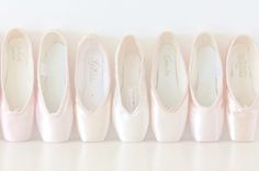 Different pointe shoe  brands! I know these more than I know designer shoes brands lol