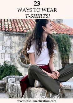 T-shirt outfits! I think, this is the most common thing that we wear at hot summer days! Because it is really easy to combine t-shirts with basic clothes.