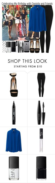"""""""Celebrating My Birthday with Danielle and Friends"""" by elise-22 ❤ liked on Polyvore featuring Prada, Topshop, NYX, MAKE UP FOR EVER, Uniqlo, NARS Cosmetics and ASOS"""