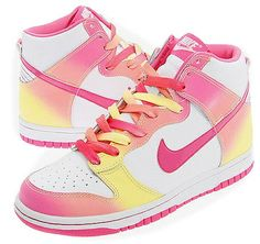 Love these pink Nike's!Not for me, but I would if I could, super cute.