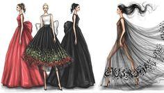 Przepiękne modowe ilustracje Shamekha Bluwia