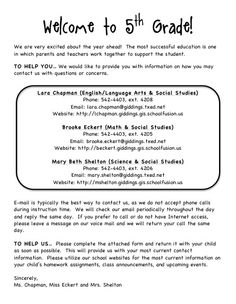 organized teaching addict back to school letter student information form 5th grade classroom