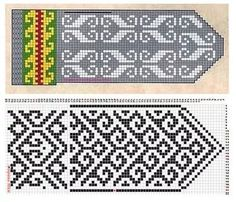 Fair Isle Knitting Patterns, Knitting Charts, Knitting Stitches, Knitting Needles, Knit Mittens, Mitten Gloves, Knitted Hats, Craft Patterns, Ravelry
