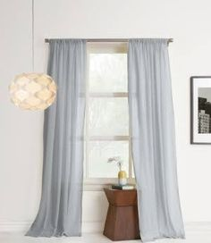 Mainstays Holloway Window Curtain Panel Gray