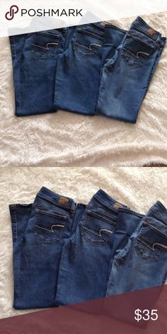 American Eagle Jeans Bundle 3 pairs of American Eagle Kick boot Regular size 10. Good used condition. American Eagle Outfitters Jeans Boot Cut
