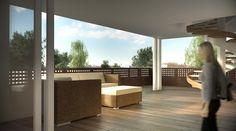 Residence Vivo a Treviso: vista della terrazza dell'attico