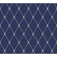 Wallpaper Borders 37636: York Wallcoverings Ny4847 Marine Blue, White, Taupe Nautical Living Knot -> BUY IT NOW ONLY: $143.97 on eBay!