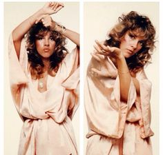 a double dose of beautiful Stevie ~ ☆♥❤♥☆ ~ in a pink kimono and using her hands expressively