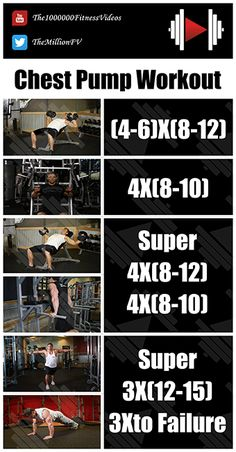 The Best Chest Pump Workout Ever to Get Bigger Chest and Pump high volume in chest muscles with this intense Superset Chest Workout For Women and Men at G. Fitness Workouts, Gym Workouts For Men, Chest Workouts, Fitness Motivation, Fitness Routines, Body Workouts, Chest Workout For Mass, Push Pull Workout, Body Under Construction