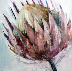 I have a wonderful Nicole Pletts oil on canvas painting in my lounge - it takes pride of place in my home Abstract Canvas Art, Oil Painting Abstract, Watercolor Paintings, Pictures To Paint, Art Pictures, South African Artists, Art Corner, Encaustic Art, Botanical Art