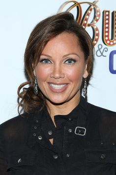 Vanessa Williams' Hairstyles - Vanessa Williams pulled back her tresses into a slightly messy twisted low bun.