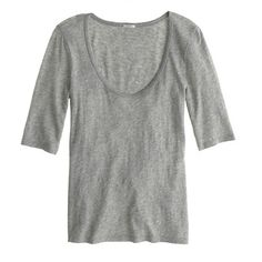 drapey elbow-sleeve tee / j.crew... i want this tee in every color