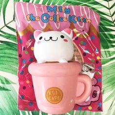 Rare Miffy the Coffee Kitty JUMBO Squishy ~ super soft peach scented