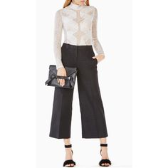 BCBGMAXAZRIA Blake Lace Bodysuit ($148) ❤ liked on Polyvore featuring intimates, shapewear and white