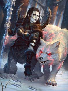"missnoonwraith: "" Skadi Winter's Wrath by Andantonius """