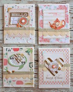 Layered cards... using Gossamer Blue March Kits - Mish Mash