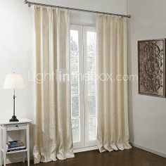 [GBP £ 66.02] (One Pair) Stretching Branches Jacquard Lined Blackout Curtain