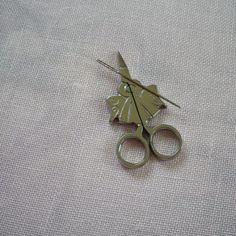 Items similar to needle minder SILVER ANGEL scissors shaped magnetized needle holder needle nanny on Etsy Small Scissors, Needle Minders, Angel, Stud Earrings, Unique Jewelry, Handmade Gifts, Silver, Vintage, Etsy