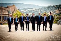 Here comes the groom and groomsmen  Photo Credit: ABM Photography