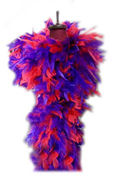SACAS 100g Red and Purple Feather Chandelle Boa for Halloween, costume, party 9.49