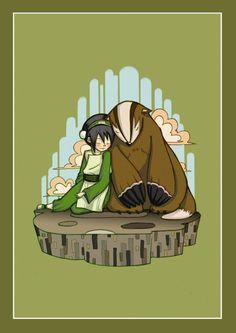Toph and BadgerMole by ArtPhish on DeviantART #Avatar #The_Last_Airbender