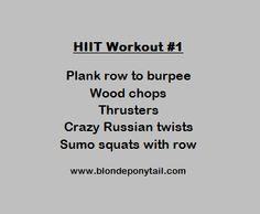 Dumb Bells Only HIIT Workout - Blonde Ponytail