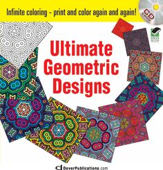 Dover Books! Infinite Coloring Ultimate Geometric Designs CD and Book
