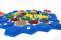 LEGO Catan board: awesomesauce.