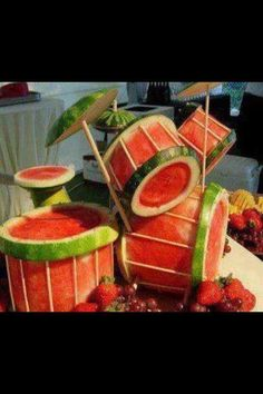 watermelon drums  i love playing drums and i love eating watermellon the perfect combo