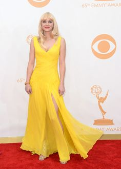 #emmyfashion Actress Anna Faris arrives at the 65th Annual Primetime Emmy Awards held at Nokia Theatre L.A. Live on September 22, 2013 in Los Angeles, California.