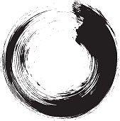 Enso – Circular brush stroke (Japanese zen circle calligraphy n°10)