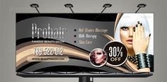 Golden Beauty Salon Billboard Template