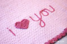 "Repeat Crafter Me: Crochet ""I Love You"" Blanket"