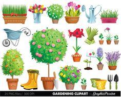 Garden Clipart Gardening Clipart garden tool clipart Tool and Garden Gardening Clipart Flowers Clip Art Plants Tools Garden in 2020 Garden clipart Clip art Organic gardening magazine