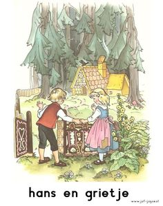 woordkaarten Hans en Grietje