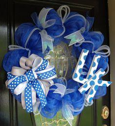 University of Kentucky Wildcats Wreath by polkadotowlcreations, $95.00