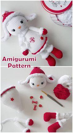 18 Best Amigurumi Animal Bear Bunny Dog Free Crochet Patterns – Amigurumi Patter… – My Pin Christmas Crochet Patterns, Holiday Crochet, Christmas Knitting, Easy Crochet Patterns, Doll Patterns, Crochet Ornaments, Crochet Snowflakes, Cute Crochet, Crochet Crafts
